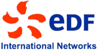 Logo EDF international white matte